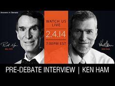 watch the entire debate between bill nye and ken ham on evolution vs creationism