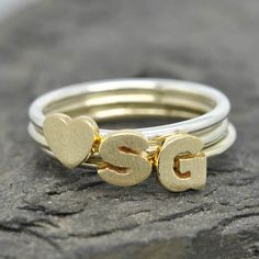 A personal favourite from my Etsy shop https://www.etsy.com/hk-en/listing/100223654/initial-ring-personalized-gift