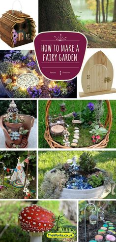 How to create your own fairy garden or fairy house. Everything you need to know - including plants, accessories and how to put it all together | The Works (home of the £2 fairy door)