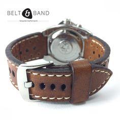 Seiko Diver, Stainless Steel Polish, Watch Straps, Dark Tan, Handmade Leather, Belt, Brown, Accessories, Vintage