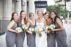 Classic Wedding by Christina Leigh Events Wedding Bouquets, Wedding Dresses, Wedding Flowers, Fair Photography, Princess Style, Gray Weddings, Bride Look, Here Comes The Bride, Bridesmaid Dresses