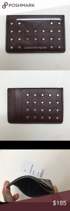 b956f64f58a2 MCQ Card Case Brand new Alexander McQueen studded leather card case in  their Oxblood color.