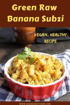 Green raw banana stir fry is an easy Indian raw banana recipe which is healthy. It can be made for lunch or dinner. This raw banana subzi is known as kelyachi bhaji in Goa. Indian style plantain recipe is vegan Indian stir fry. Also check the recipe video. #easy #lunch #dinner #healthy #Indianstirfry #Indian #Indiancurry #vegan #rawbanana #rawbananastirfry #greenrawbanana Fun Easy Recipes, Delicious Dinner Recipes, Lunch Recipes, Vegetarian Recipes, Healthy Recipes, Dinner Healthy, Yummy Recipes, Healthy Food, Indian Food Recipes