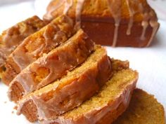 Glazed Pumpkin Spice Bread