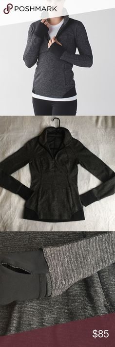 FLASH SALE! Lululemon Runderful Zip 4 Brand new! Worn only 2-3 times, washed cold and laid flat to dry. Smoke/pet free home. Reasonable offers accepted. No trades. lululemon athletica Tops