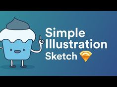 Cupcake Illustration using Sketch 3 App - YouTube
