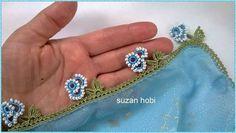 Borda de crochê com miçangas. Delicada e bonita. [] # # #Lace, # #Needle #Lace, # #Crochet, # #Flowers