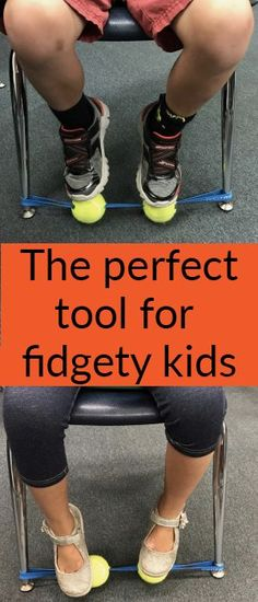 The perfect aid for kids with fidgety feet perfect for classroom management. Attached is the band. Sensory Tools, Sensory Activities, Sensory Diet, Classroom Behavior, School Classroom, Classroom Seats, Dog Behavior, Classroom Design, Classroom Organization
