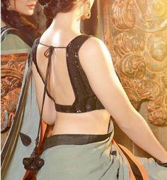 backless blouse design
