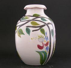 STIG Lindberg Gustavsberg Outstanding Faience Vase with Stunning Glaze Stig Lindberg, Glaze, Ebay, Design, Decor, Enamel, Decorating, Dekoration, Design Comics