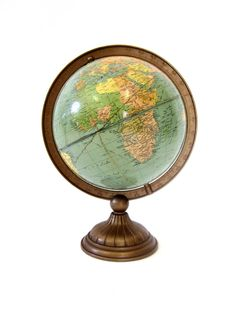Vintage World Globe c.1933 Weber Costello