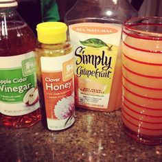Before every meal, drink 1 cup of grapefruit juice with 2 tablespoons of apple cider vinegar ... loaded with vitamin C, helps you burn fat faster... the acetic acid in the vinegar may switch on genes your body needs to pump out fat-burning proteins. You can add 1 teaspoon of honey, which only adds 20 calories, for sweetness.
