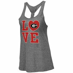 Georgia Bulldogs Ladies Forget Me Knot Tri-Blend Tank Top - Ash