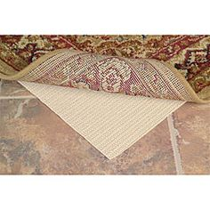 """@Overstock - Add style and functionality to your home decor with a pad for your area rug  """"Green"""" thin pad is made using 100-percent plant based oils  Rug pad prevents scratching of the floor and extends rug lifehttp://www.overstock.com/Home-Garden/Environmentally-friendly-Thin-Rug-Pad-5-x-8/3936628/product.html?CID=214117 $23.25"""