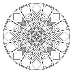 Free printable mandala coloring pages | Coloring pages to help you relax and calm down | Mindfulness