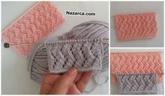 AJUR ÖRGÜSÜNDE ZİKZAKLI DESEN OLUŞUMU   Nazarca.com Baby Knitting Patterns, Knitting Stitches, Hairstyle Trends, Merino Wool Blanket, Fingerless Gloves, Arm Warmers, Diy And Crafts, Projects To Try, Crochet