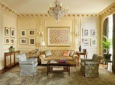 Traditional interior design Thomas Jayne fifth ave music room sitting area