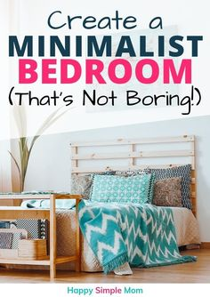 Create a minimalist bedroom. It can be a small bedroom, cozy bedroom, modern or white. However, it doesn't have to be boring. Tips for the best minimalist bedroom for you. - Home Design Linen Bedroom, Cozy Bedroom, Bedroom Furniture, Bedroom Ideas, Master Bedroom, Declutter Your Home, Organizing Your Home, Organising, Home Design