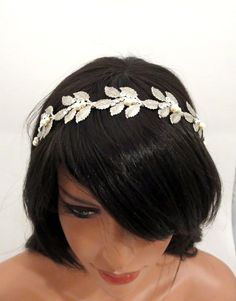 Enthusiastic Fashion Leaf Leaves Wedding Bride Bridal Hair Headband Tiara Headdress Accessories Superior Quality In