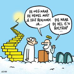 Hemel of roltrap - Moden Achrichten Happy Mind Happy Life, Happy Minds, Funny Cartoons, Funny Comics, Cartoon Humor, Funny Pix, Funny Pictures, Funny Quotes, Life Quotes
