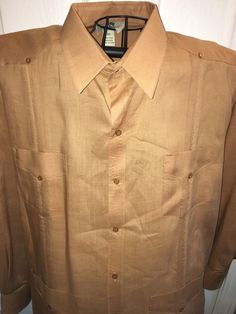 Guayabera Shirt 2XL Mojito Collection Camel Color Never Worn No Tags Long Sleeve | eBay