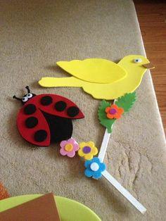 Çomak kuklaları Bible Bag, Spring Books, Ribbon Bookmarks, Color Crafts, Creative Crafts, Learning Activities, Decoration, Puppets, Crafts For Kids
