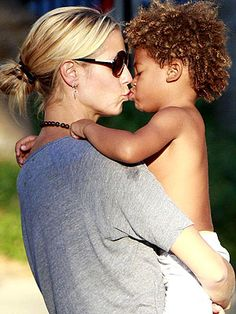Heidi Klum and son. #NewNormal
