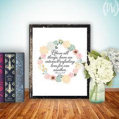 Bible verse art printable Wedding Scripture art by PrintableWisdom, $5.00