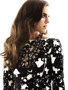 August 2012 cover shoot with Allison Williams photographed by Seiji Fujimori.