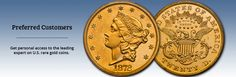 Welcome to Douglas Winter Numismatics, your source for rare gold coins with character. Visit our website to discover our frequently updated inventory of rare gold coins. Ira Investment, Investment Companies, Rare Gold Coins, Dovetail Furniture, Medical Technology, Personalized Items, Medical