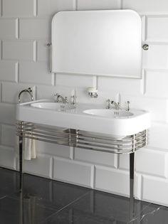 Consolle lavabo doppio WIDE BLUES by Devon