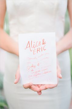 red and white wedding invites