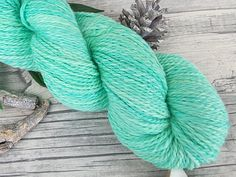 Handgesponnene Wolle  Mermaid