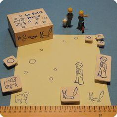小王子手工雕刻橡皮圖章集 Le Petit Prince handcarved rubber stamp set