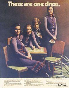 ButtonArtMuseum.com - La Mode. Our buttons do more than close clothes.  New York Times Magazine circa 1968. #TBT