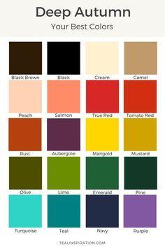 deep autumn best colors - Book Of Colors
