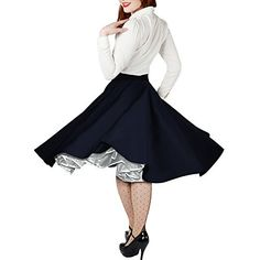 best   Black Butterfly Vintage Rockabilly Full Circle 1950's Skirt (14, Midnight Blue) #fashion #beauty #lifestyle #vintage #beverage #vintagedress #hair #nails  Check more at http://www.musthave.ovh/black-butterfly-vintage-rockabilly-full-circle-1950s-skirt-14-midnight-blue/