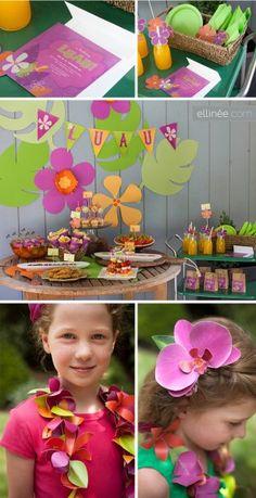 Lia Griffith summer party ideas luau printables