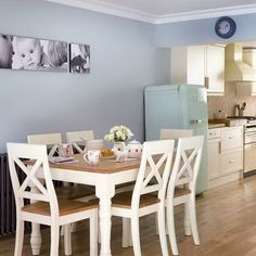 Dining Room Designs, The Beauty Picture Hangs On A Soft Blue Wall Beautiful Decoration In Small Dining Room Ideas: Enjoy Eating In One Of Apartment Dining Room Ideas