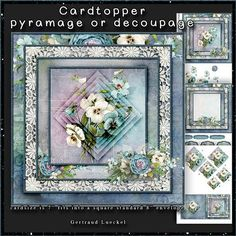 A bunch of pansy Cardtopper with Inlet 143 on Craftsuprint - Add To Basket!
