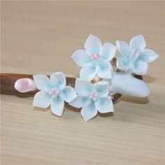 Free shipping the women's Flower hair sticks Headdress pearl jewelry Chinese style  relogio feminino  2015 popular models