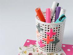 embroidered desk accessories