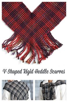 Ingenious rigid-heddle technique to make v-shaped scarves. What colors will you weave?