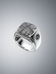 Men's Diamond & Sterling Silver Rings | Men's Jewelry | David Yurman - Love this ring.  I got it for Christmas and can't stop wearing it.  :)