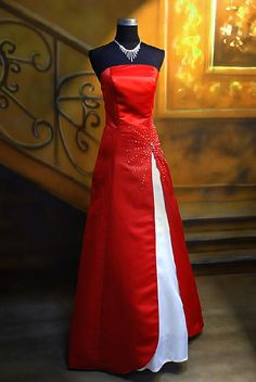 red brides maid dresses