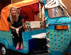 One of Fuschia's favourite stands was the Tuk Shop.  Creative Director of Fuschia had her photo taken, it bought back memories of travelling in India last year.  This fantastic company hire out tuk tuks for weddings.  So for any Asian bride and groom wishing to arrive in style this is a must for your wedding day.  There are different designs to choose from.  Contact http://www.tukshop.biz for more information.