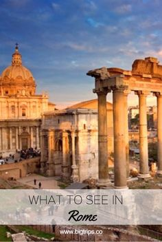 Foro Romano. What to see in Rome, Italy. All places on the map.  #rome #italy #travel