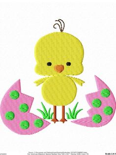 Easter Egg Baby Chick Machine Embroidery by SimplySweetEmbroider, $4.00