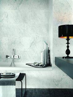 Pisa Carrera Marble-effect Porcelain Tiles