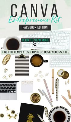 Scene Creator Kit for Canva, Facebook Templates, Top View Mockup Creator, Social Media Templates, Canva Templates, Blog graphic template #affiliate